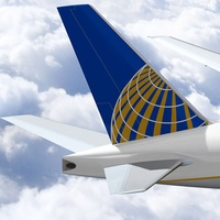 United Airlines, jet, airplane