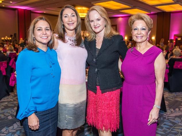19 Alina Garcia, from left, Soraya McClelland, Sandy Barrett and Philamena Baird at the Memorial Hermann Razzle Dazzle luncheon October 2014