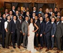 Bachelorette Rachel Lindsay with her suitors