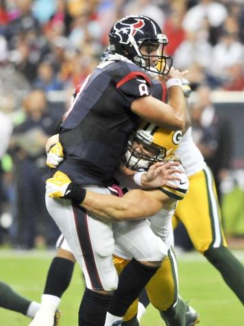 Matt Schaub Packers swarmed