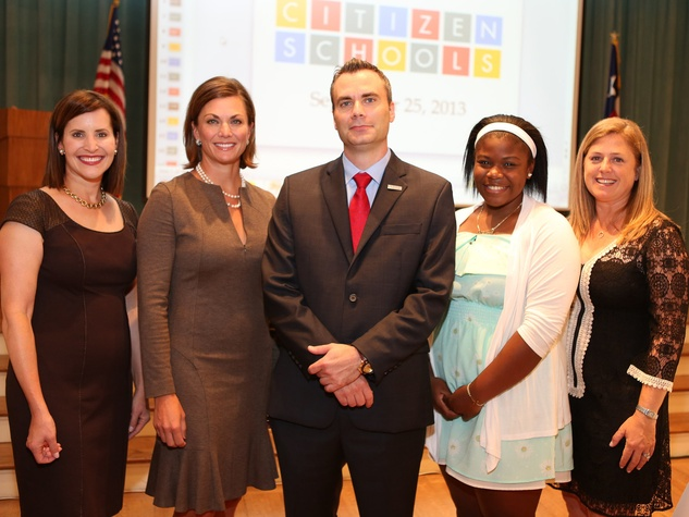 6 Carrie Miller, from left, Nicole Perdue, Alan Bordelon, Celestina Melendez and Julie Price at the Citizen Schools luncheon