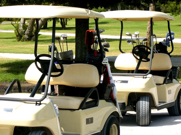 golf carts, golf course