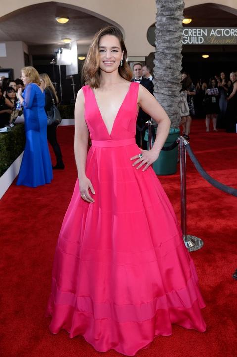 Emilia Clarke at the Screen Actors Guild awards