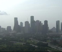 hazy day in Houston due to windstorm from Africa
