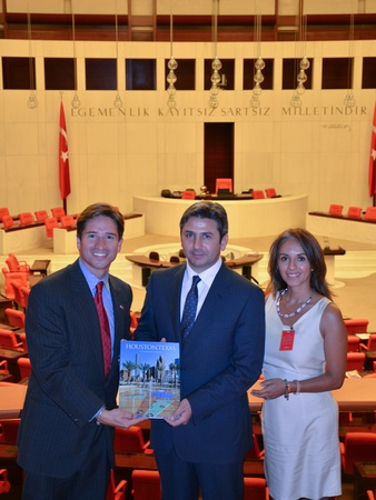 Deborah Elias, Turkey, June 2012, Carlos Obando, Hon. Ahmet Aydin, Deputy Chairman of the Majority Political Party, Ximena Murillo