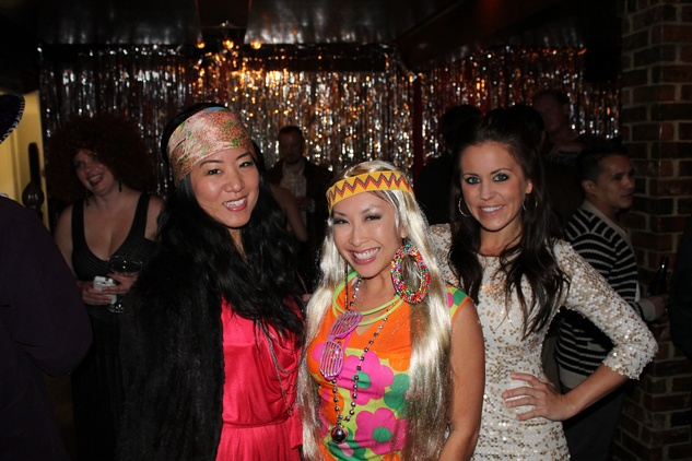2 Annie Schen, from left, Lily Jang and Melanie Mabry at the Eleven XI party November 2013