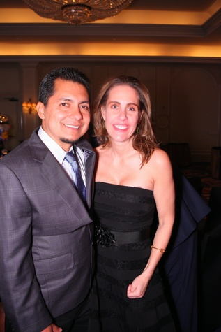 "Perfecto Cruz and Rebecca Kelly at Crossroads School's ""Superhero Soiree"" Gala February 2015"