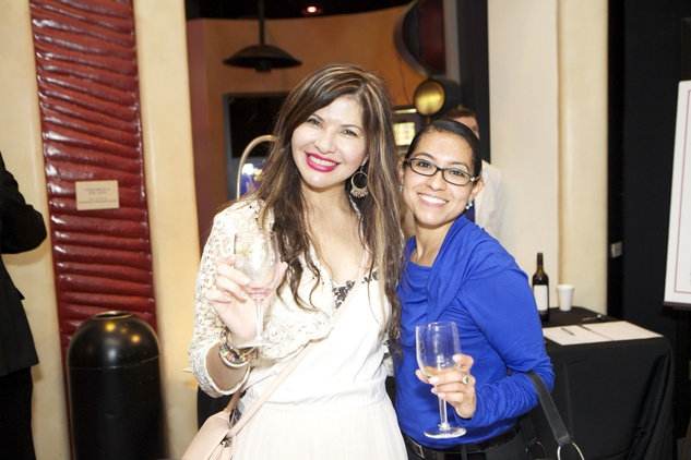 1288 Blanca Munoz, left, and Christy Garcia at the Passport to the World wine and food event at The Health Museum October 2014