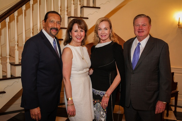18 Michael and Ileana Trevino, left, and Alice and Keith Mosing at the Men of Distinction kick-off party February 2014