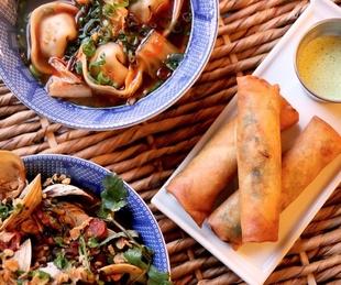 Gung Ho, dumplings, egg rolls