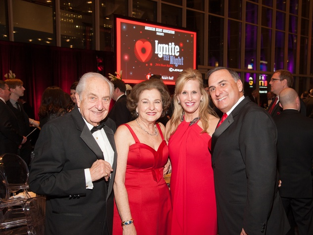 3 Bill and Joann Crassas, from left, and Vanessa and Perry Sendukas at Heart Ball February 2014