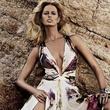 Roberto Cavalli spring summer collection with model Karolina Kurkova