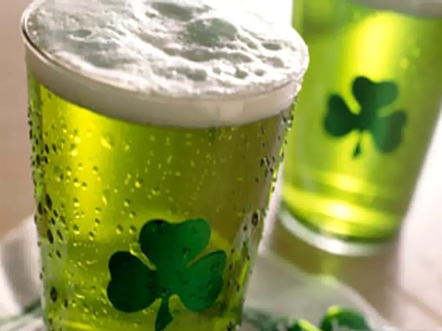 St. Patrick's Day, green beer, shamrock