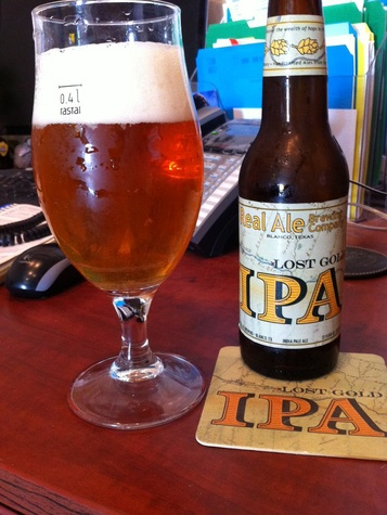 Lost Gold IPA from Real Ale Brewing Co.