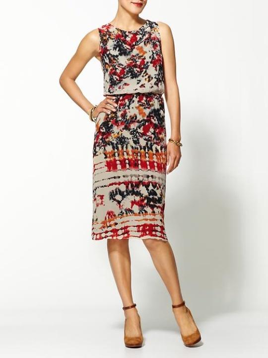 Piperlime Painterly Print Midi Dress