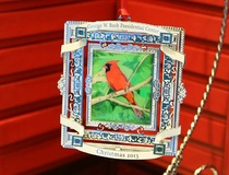 Jennifer Chininis: A little bird made him do it: Holiday ornament features former president's artwork