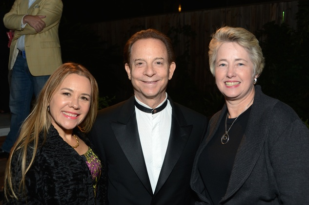 11 Dr. Penelope Gonzales Marks, from left, Lester Marks and Mayor Annise Parker at Cindy Clifford's birthday bash November 2014