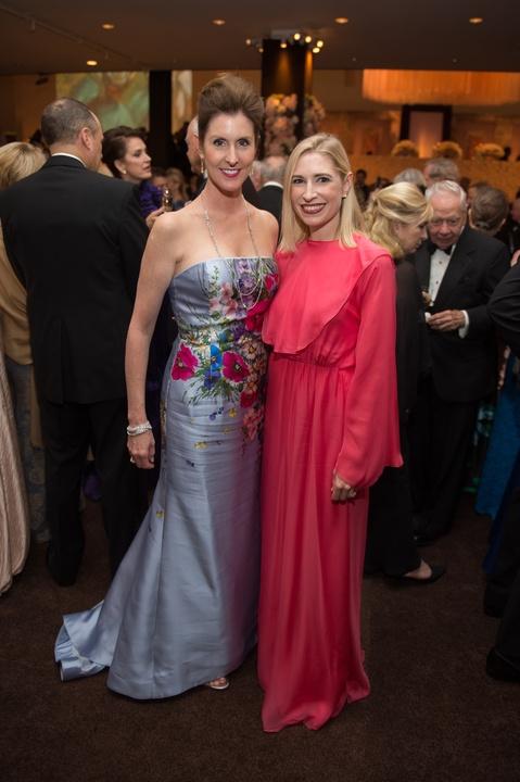 Phoebe Tudor and Isabel David at Museum of Fine Arts Grand Gala Ball