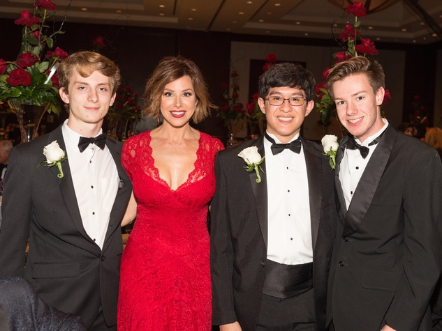 Dominique Sachse with Virtuosi students at Virtuosi Gala