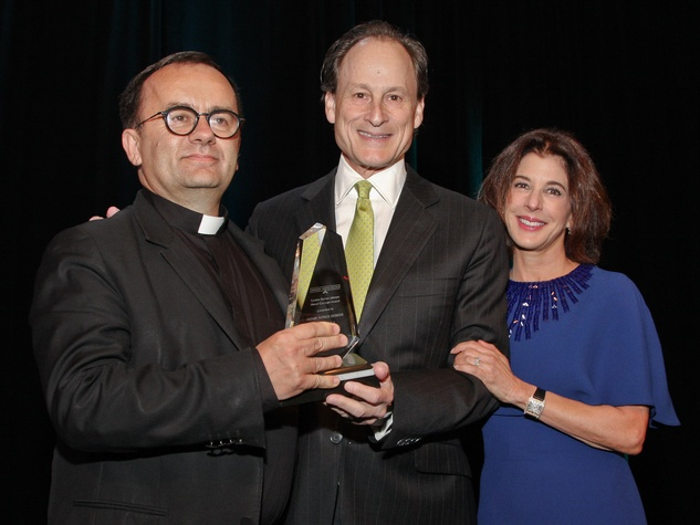 166 Holocaust Museum Moral Courage Award May 2013 Father Patrick Desbois with event chairs Michael Gamson and Barbara Gamson