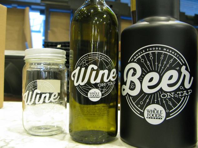 Whole Foods, bottles