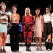 Gwen Stefani and models at L.A.M.B. spring 2015 presentation