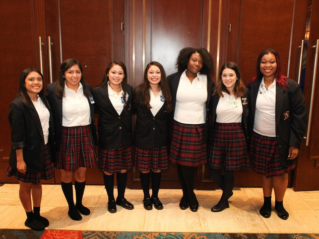 Students from The Irma Lerma Rangel Young Women's Leadership School