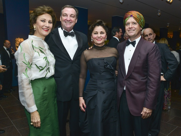 13 Keely Somoza, from left, Ralph Burch, Beth Madison and Christopher Gardner at the MFAH Grand Gala Ball October 2013