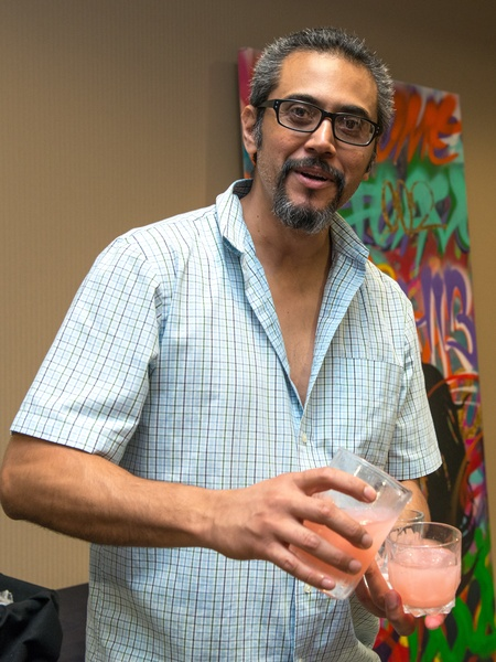5 David Cedeno at the Crafted mixology contest at Mr. Peeples July 2014