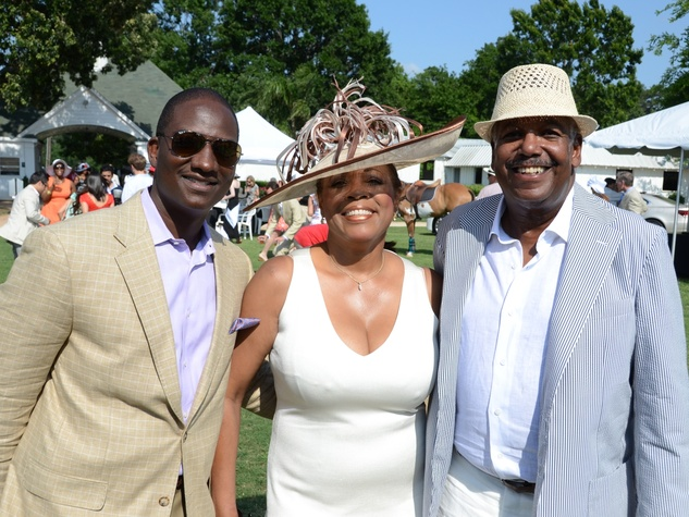 3 Houston Health Museum Young Professionals polo May 2013 Derrick Mitchell, Judge Vanessa Gilmore, Dr. Bill Fleming