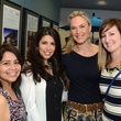 Leslie Fish, from left, Maria Lowery, Rebecca Emrick and Natalie Brannen at WOW's Membership Drive June 2014