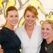 0475 Allison Flikerski, from left, Lauren Maloy and Emily Essaye at Child Advocates Art Party November 2014