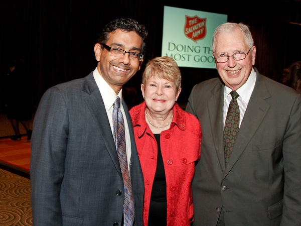 Salvation Army luncheon, November 2012, Dinesh D&#39;Souza, Penny Butler, John Butler