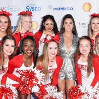 Aly Raisman, University of Houston cheerleaders at Taste of the NFL