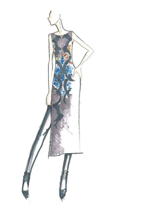 Fashion Week fall 2013, sketches, January 2013, BCBGMAXAZRIA