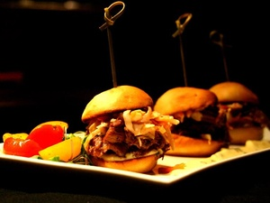 Braised pork spare rib sliders at Grain restaurant at the Park Cities Hilton in Dallas
