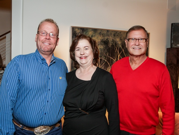 News, Legacy Holiday Schmooze, Dec. 2015, Ken Long, Katy Caldwell, Jay Allen