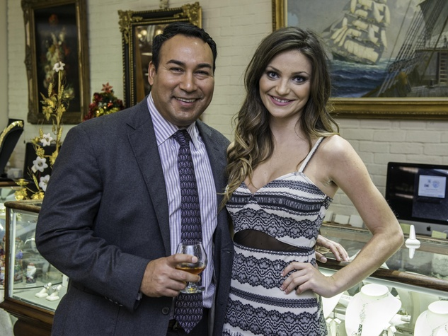 3 Hernaldo Rivera and Josephina McManus at the Valobra party December 2014