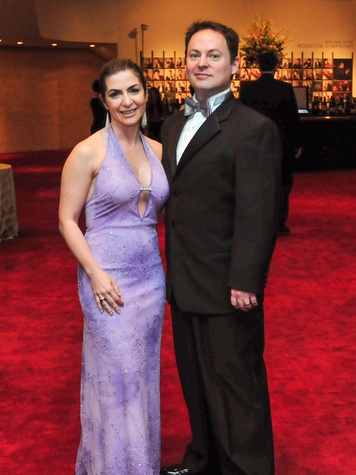 Connie Coulomb and Mauro Gimenez at the Houston Symphony Wine Dinner March 2014