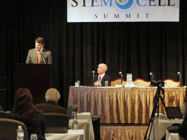 Stem cell summit, Rick Perry, October 2012