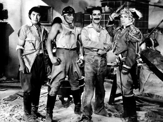 The Marx Bros Chico, Zeppo, Groucho, and Harpo in Duck Soup