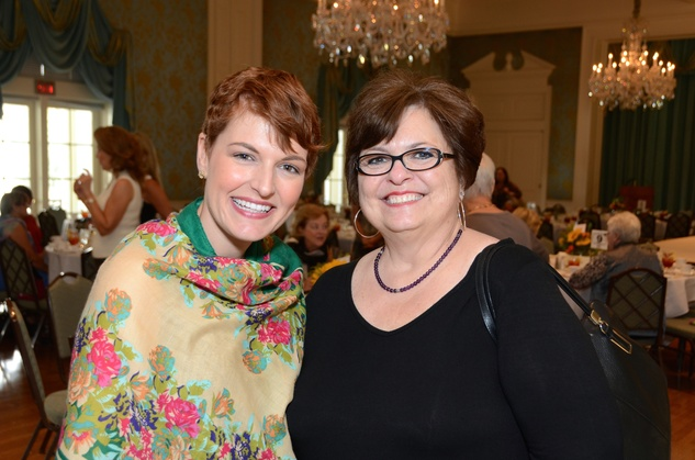 15 Katie Kalenda Daggett, left, and Debbie Costello at the Latin Women's Initiative Luncheon October 2014