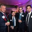 News, Houston Young Lawyers, holiday party, Dec. 2016. : Bob Gray, Drew Bovina, Steven Walton, Brandon Roy