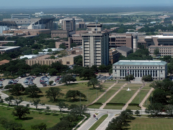 Texas A&amp;M University, campus, aerial