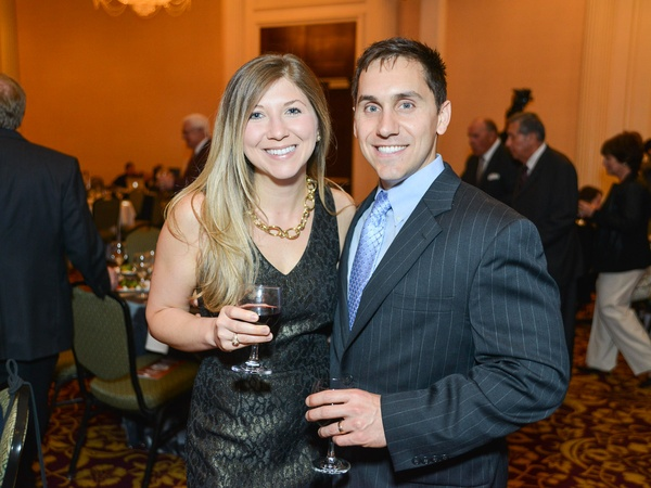 R.C. Slocum dinner, March 2013, Holly Campagna, Nic Campagna