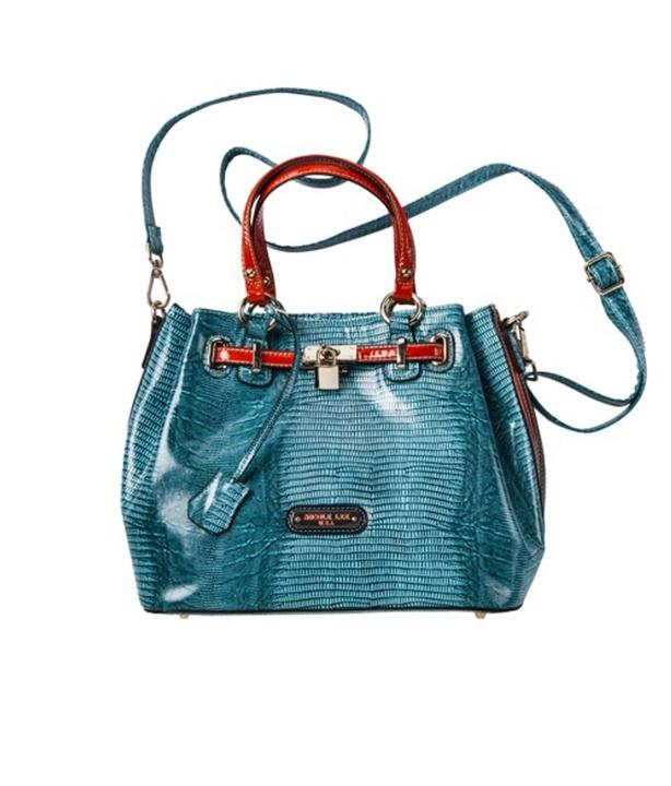 Target Nicole Lee® U.S.A. Lizard Print Satchel Handbag