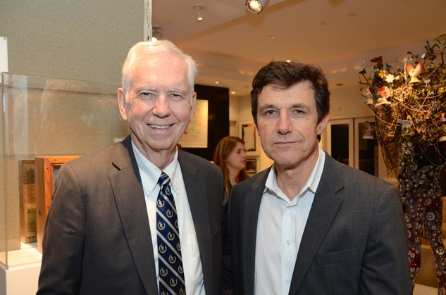 5 35 Charles Foster, left, and Josef Helfenstein at the Rick Lowe Party December 2014