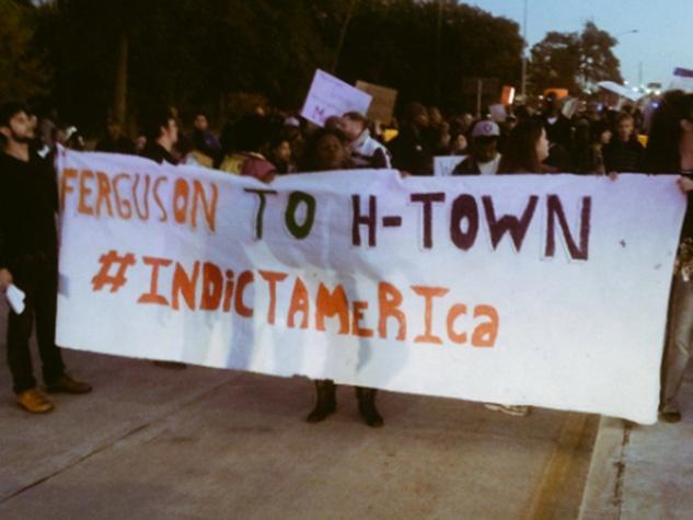 9 Houston Ferguson protest November 2014 Last night was intense & #Houston not done. TODAY @ 4PM #Ferguson Solidarity Rally. (1200 Smith St)
