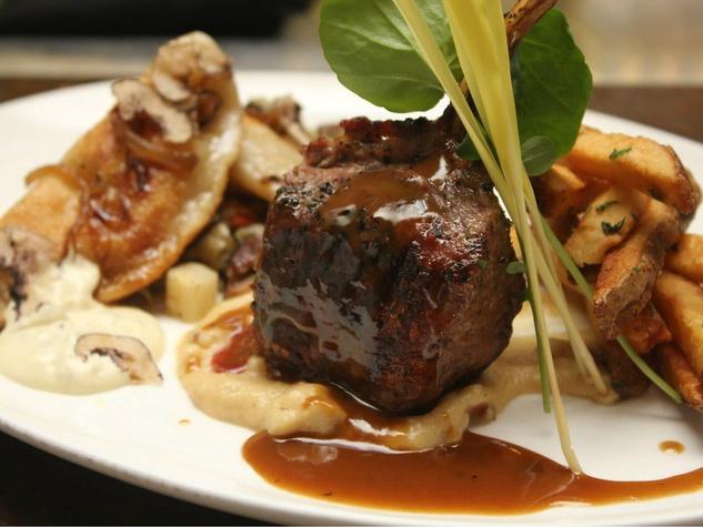 Lamb chop at Fearing's Restaurant in the Ritz-Carlton, Dallas