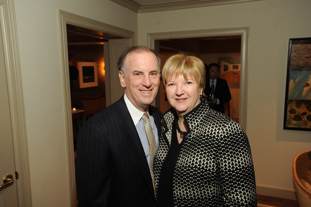10 3354 Jack and Leslie Blanton at the Reception Honoring Mayor for Arts Leadership February 2015
